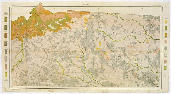 U.S. DEPT. OF ARGICULTURE -  Soil map - South Carolina Campobello Sheet.
