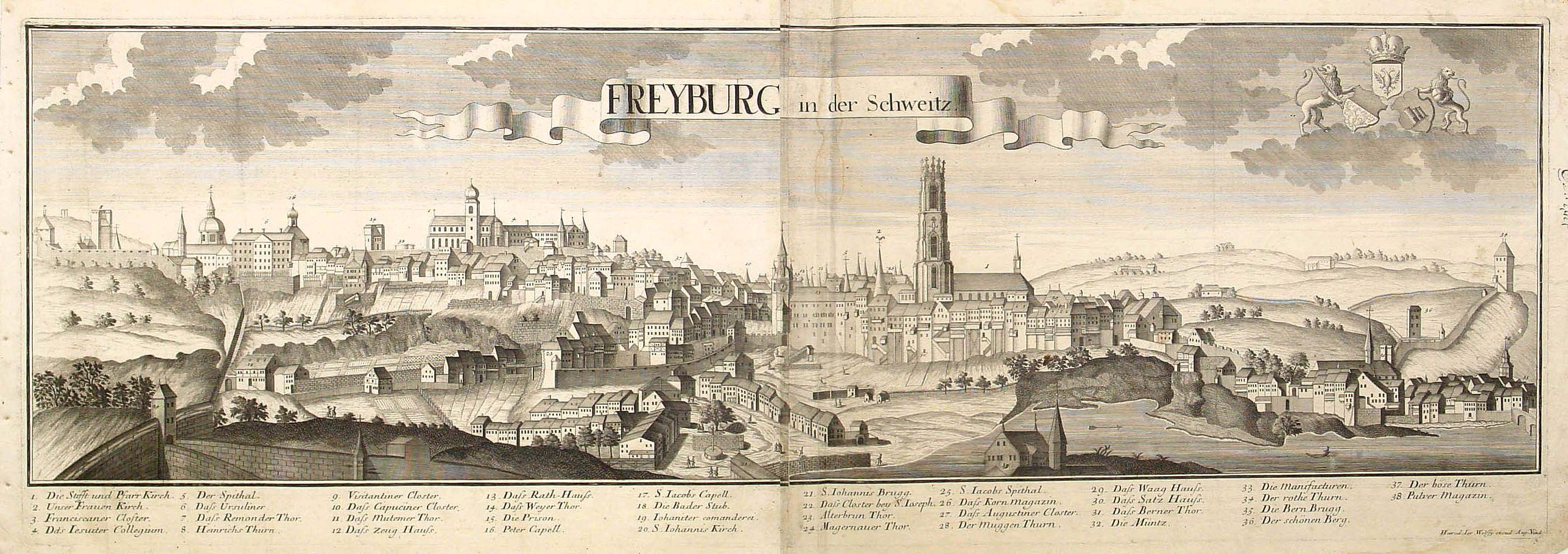WOLFF, J. Héritiers. -  Freyburg in der Schweitz.