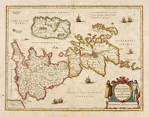 JANSSONIUS, J. -  Insularum Britannicarum acurata delineatio. . .