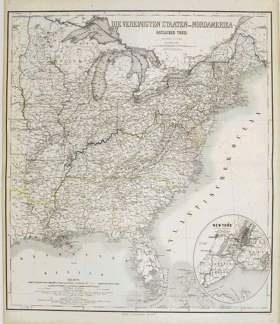 GRÄF, C. -  Die Vereinigten Staaten von Nordamerika (Ostlicher theil).