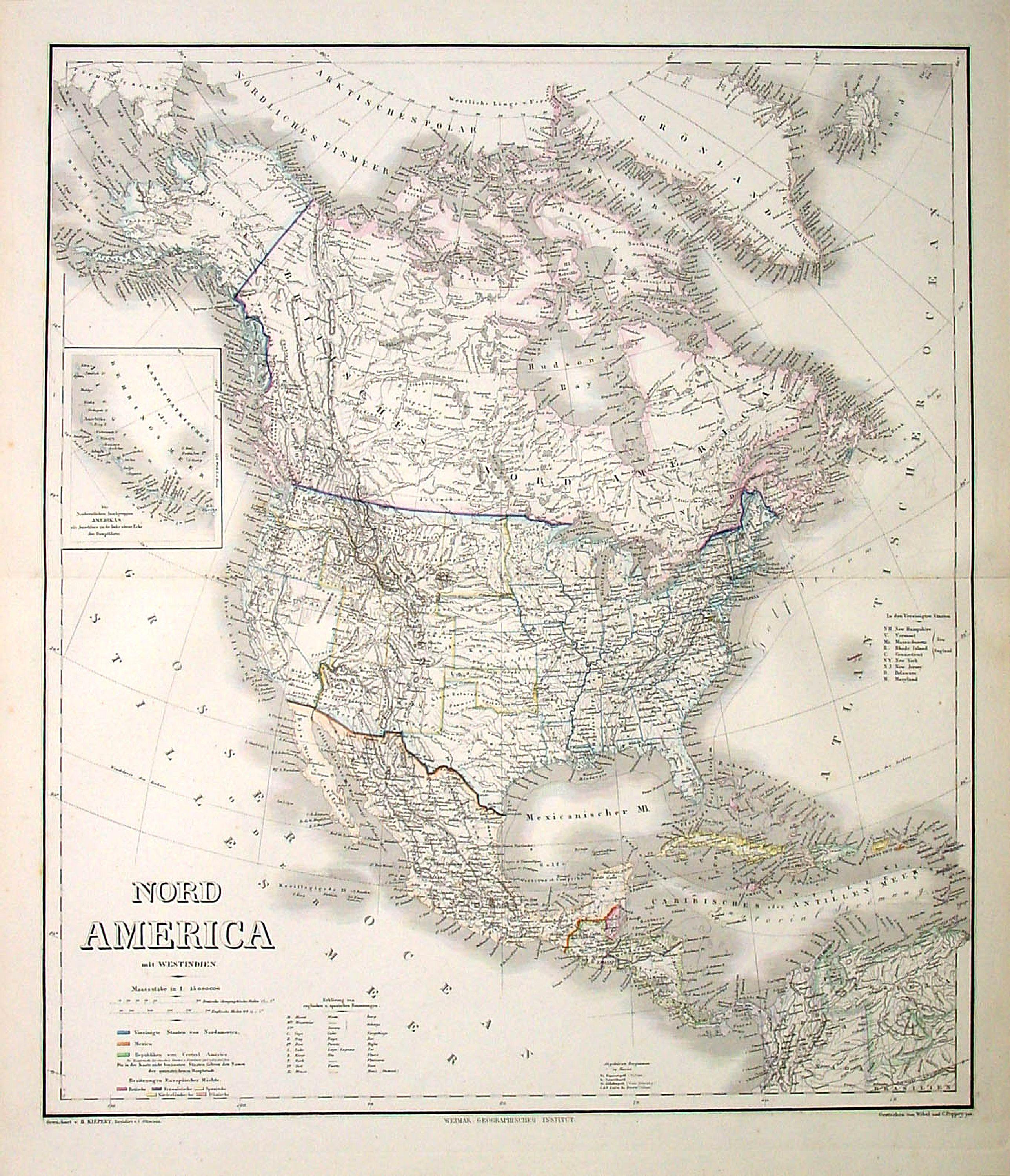 WEILAND, C.F. -  Nord America mit Westindien.