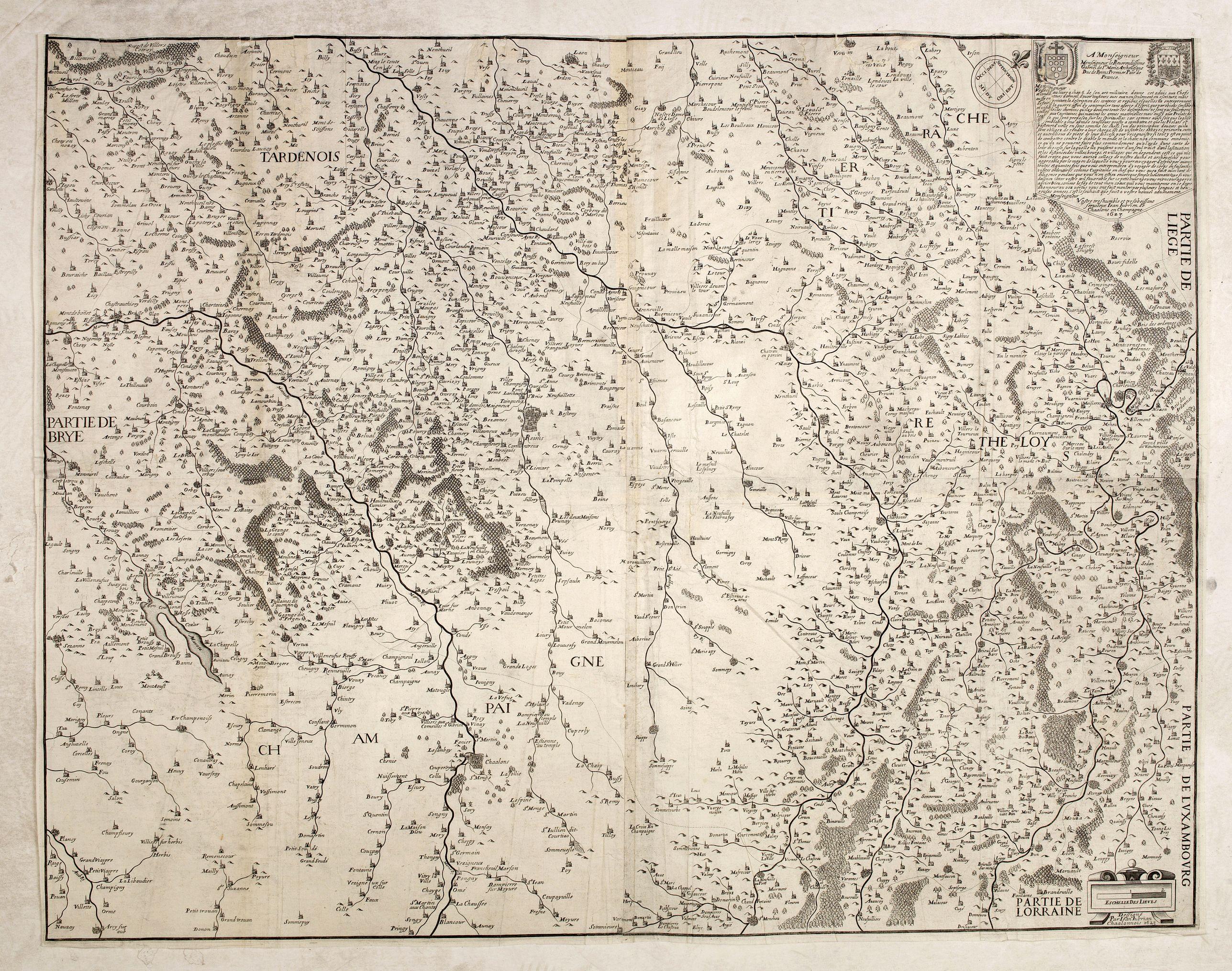 JUBRIEN, J. -  Carte du Pays et Diocese de Reims.