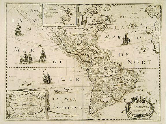 Carte De Lamerique.Old Map By Bertius Carte De L Amerique