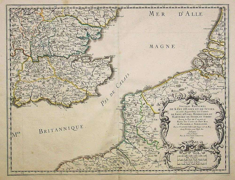 SANSON, N./ MARIETTE, P. - Anciens Royaumes de Kent, d