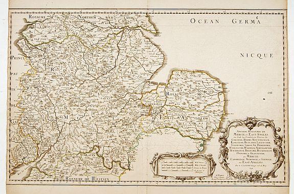 SANSON, N. / MARIETTE, P. -  Anciens Royaumes de Mercie, et East Angles. . .