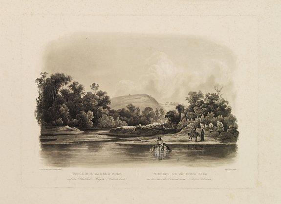 BODMER, Karl -  Waschinga Sahba's Grab.. (Wakonda Creek.)