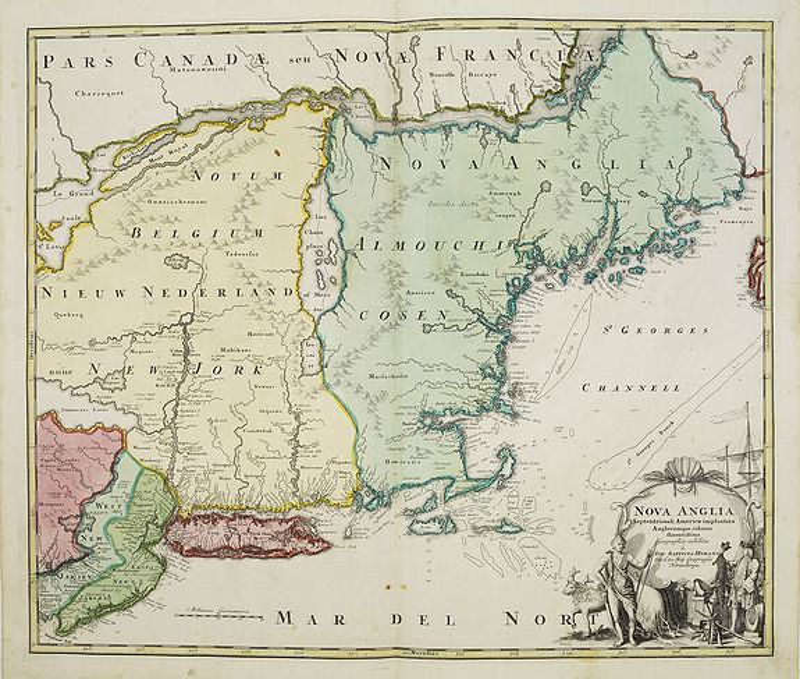 HOMANN, J.B. -  Nova Anglia Septentrionali Americae implantata . . .