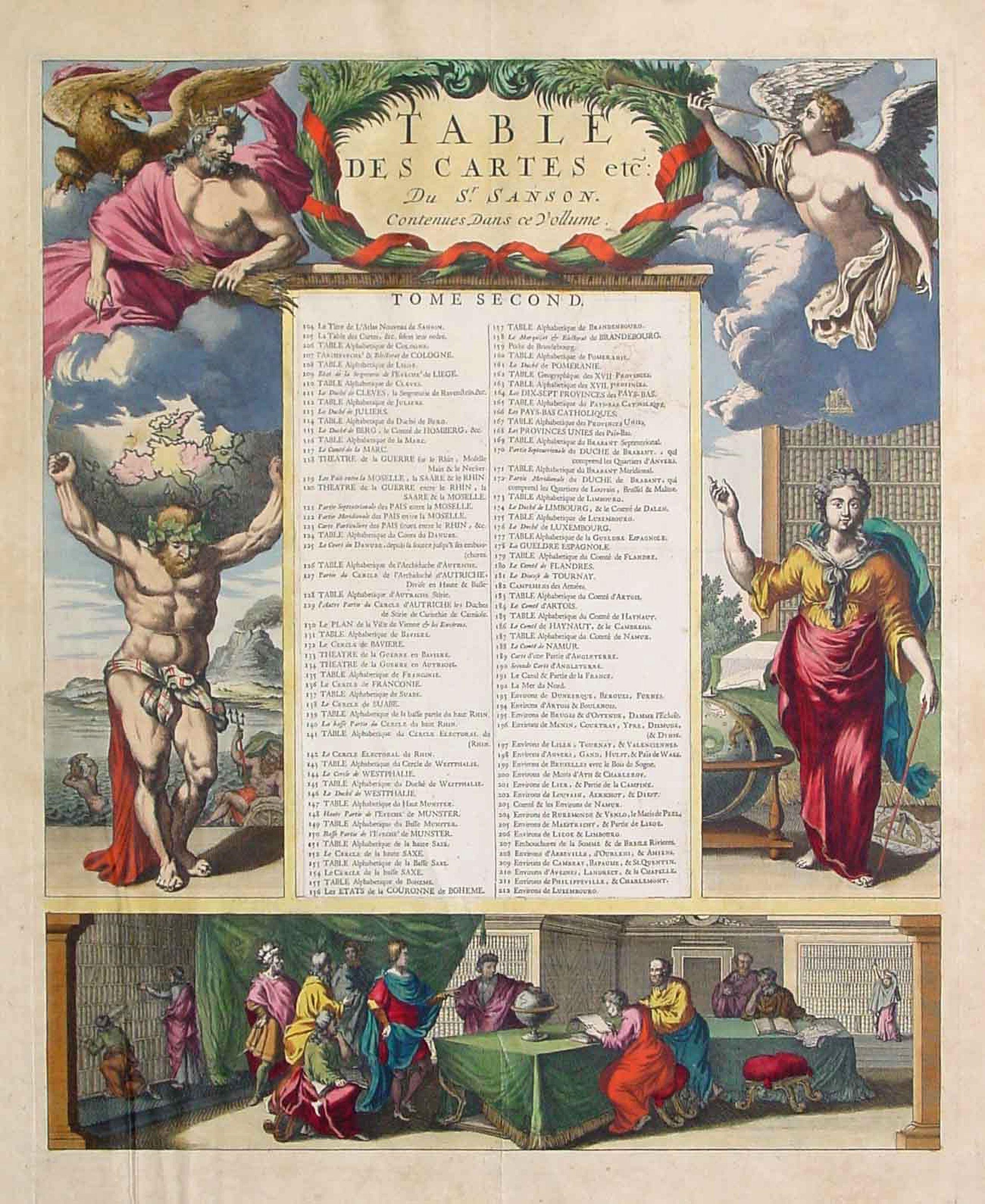 SANSON, N. / MORTIER, P. -  (Title page) Table Des Cartes etc: Du Sr. Sanson..