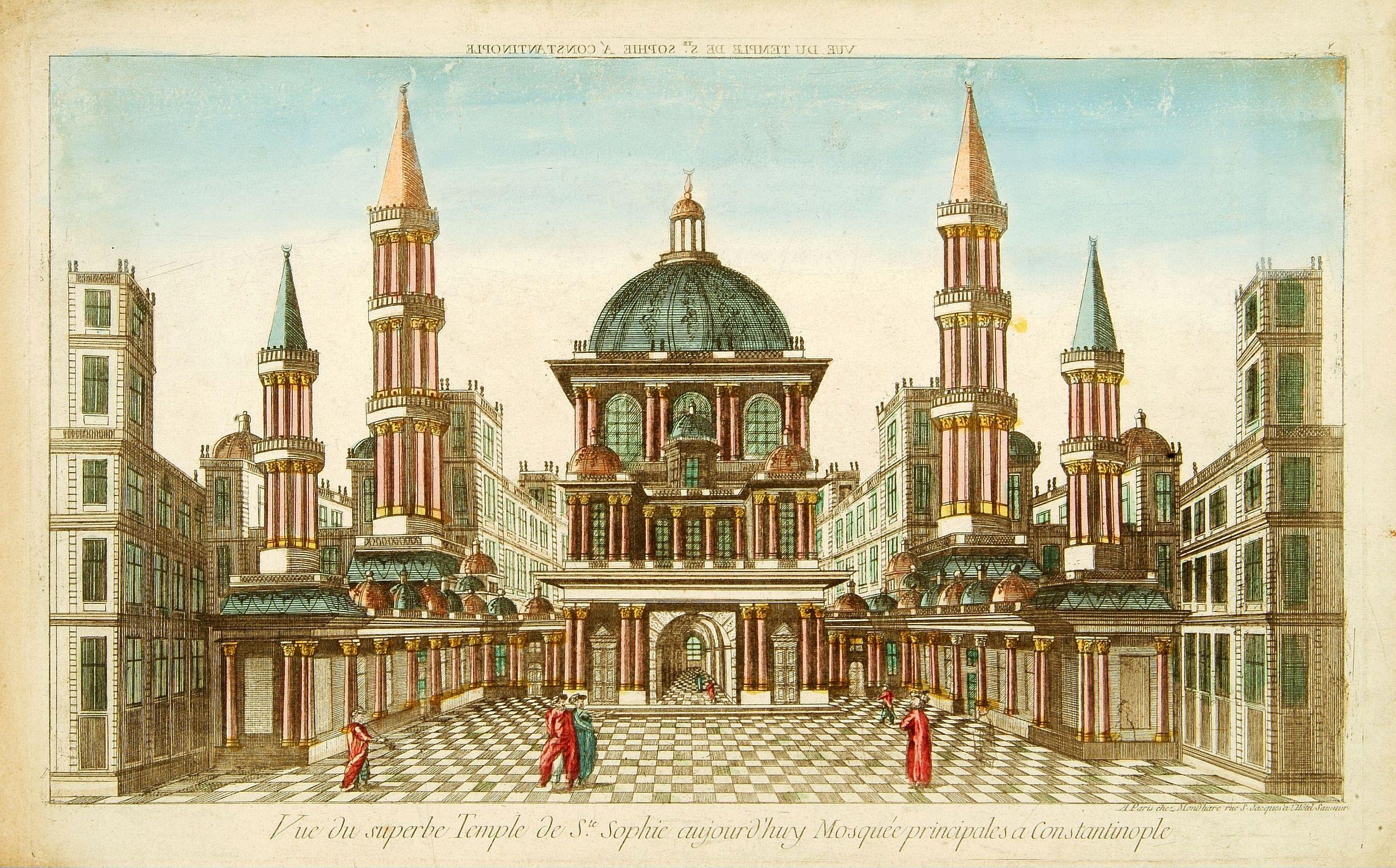 MONDHARE -  Vue du sperbe Temple de St.Sophie .. a Constantinople.