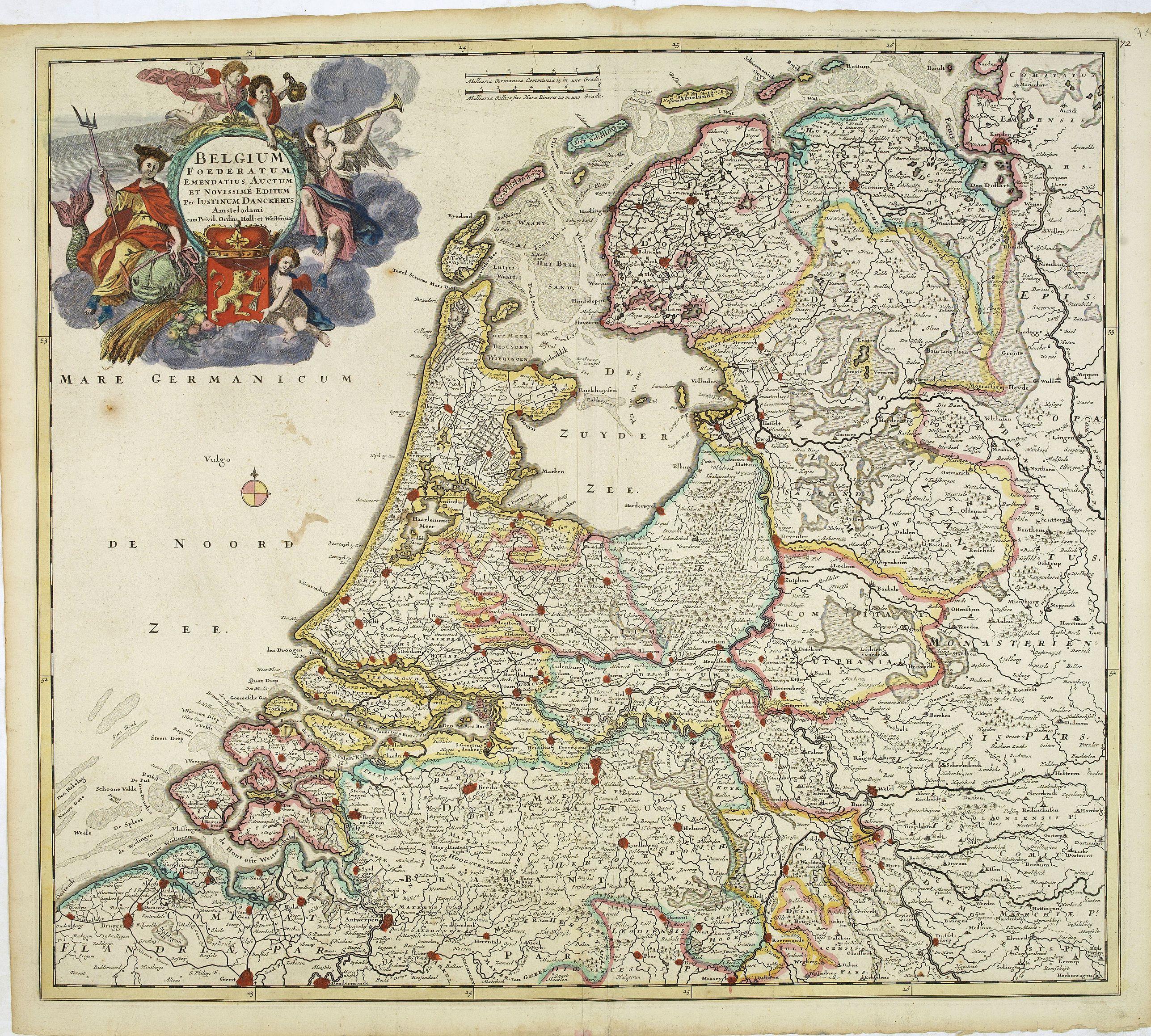 DANCKERTS, J. -  Belgium foederatum emendatius auctum. . .