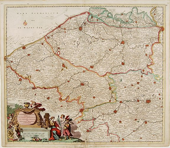 DANCKERTS, T. -  Novissima Flandriae Comitatus tabula. . .