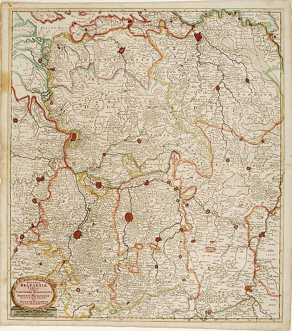 DANCKERTS, C. -  Ducatus Brabantiae tabula continens sacri imperii. . .