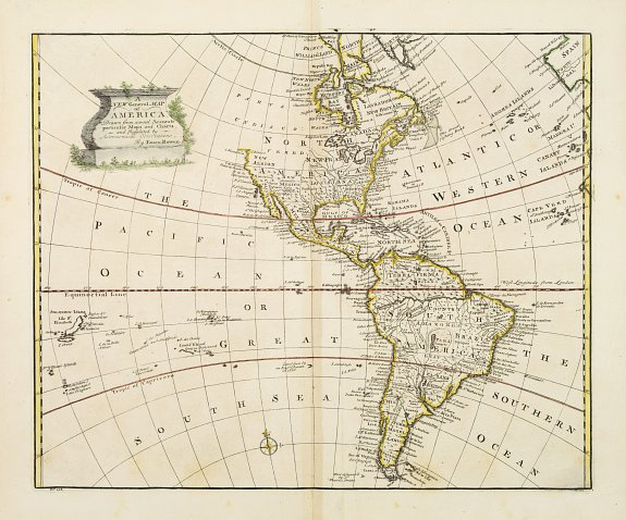BOWEN,E. -  A new general map of America drawn from several..