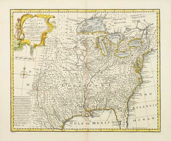 BOWEN, Th. -  A new & accurate map of Louisiana, with part of Florida. . .