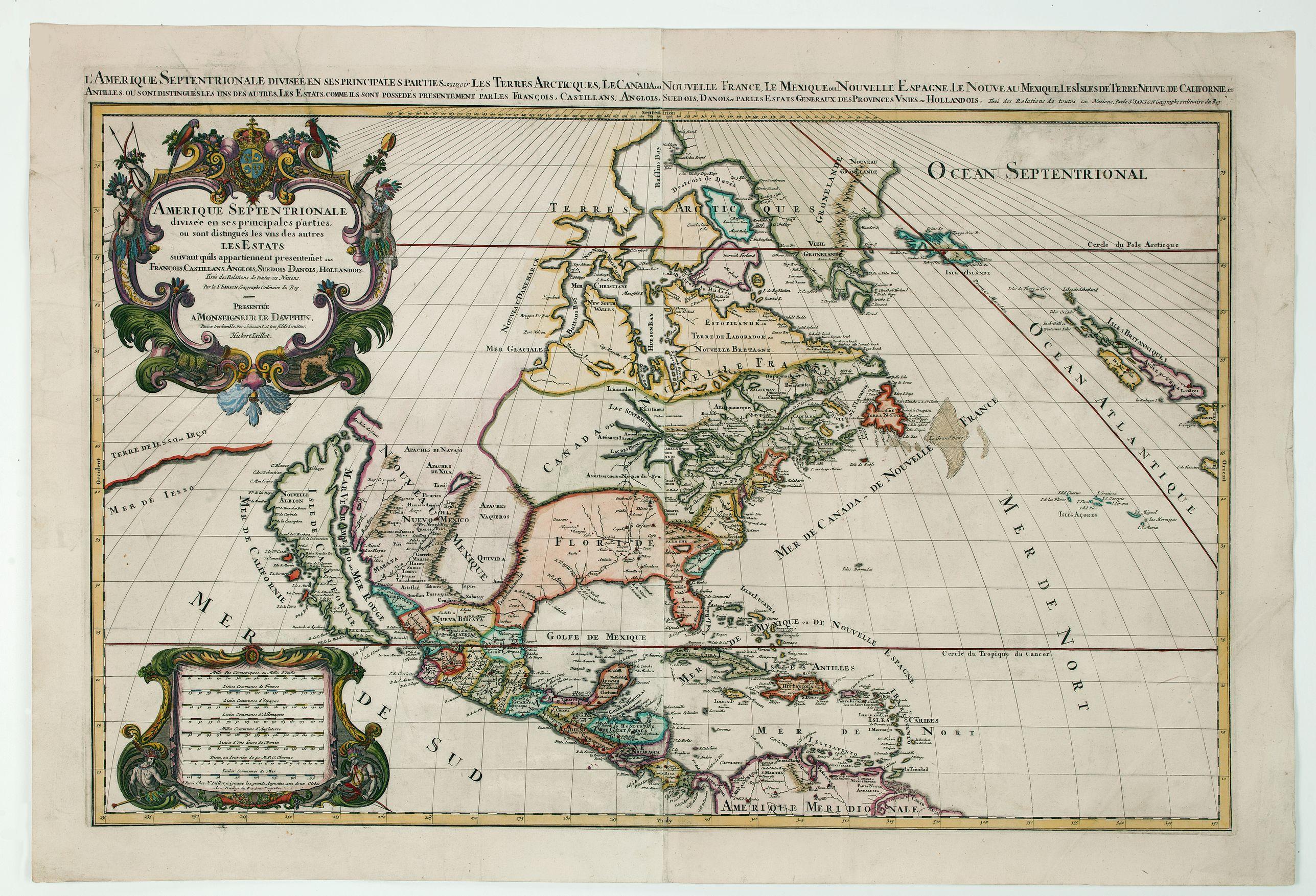 JAILLOT, H. -  Amerique Septentrionalis..