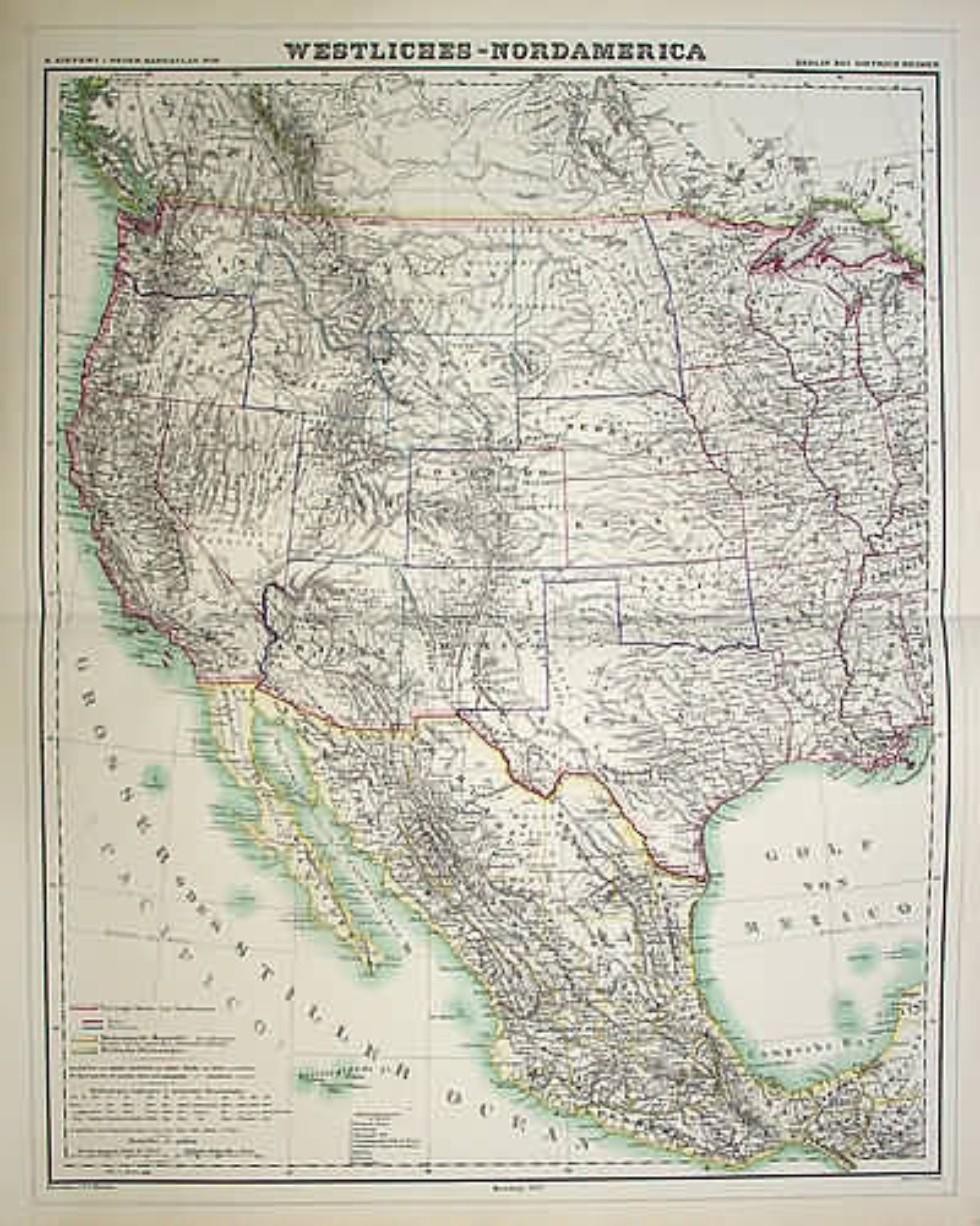 KIEPERT,H. -  Westliches-Nordamerica.