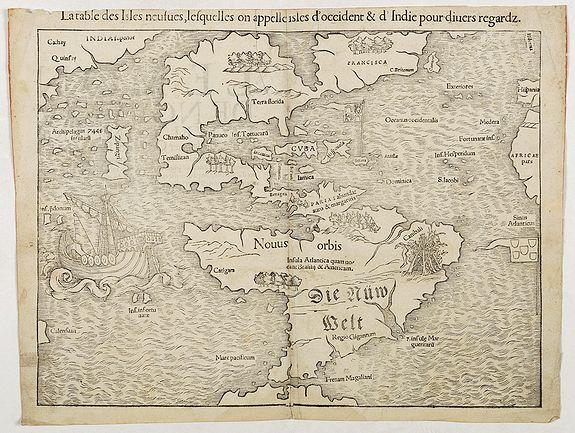 MÜNSTER, S -  La table des Isles neufves, lequelles on appelle isles d'occident & d'Indie pour divers regardz
