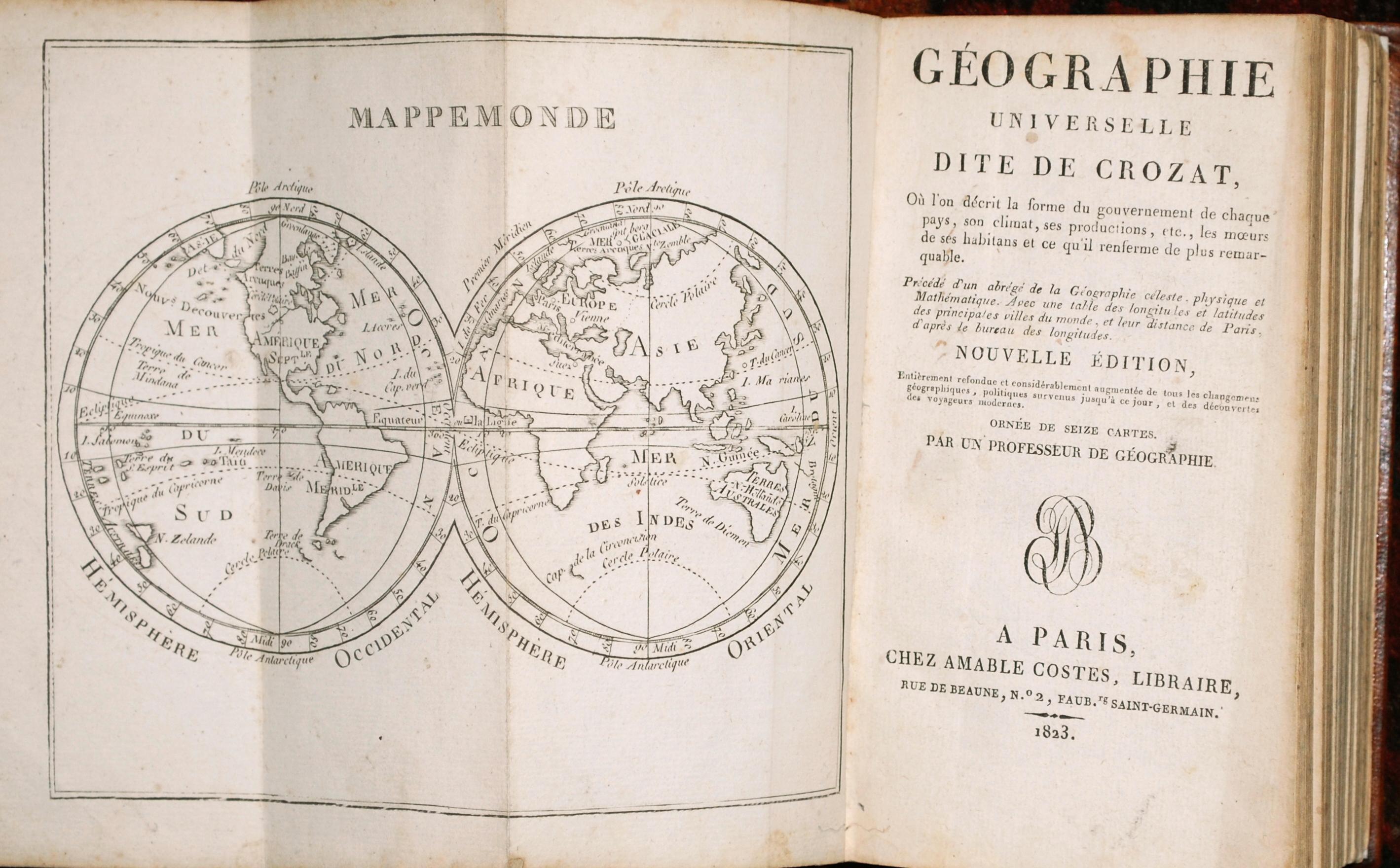 Crozat. - Geographie Universelle dite de Crozat.
