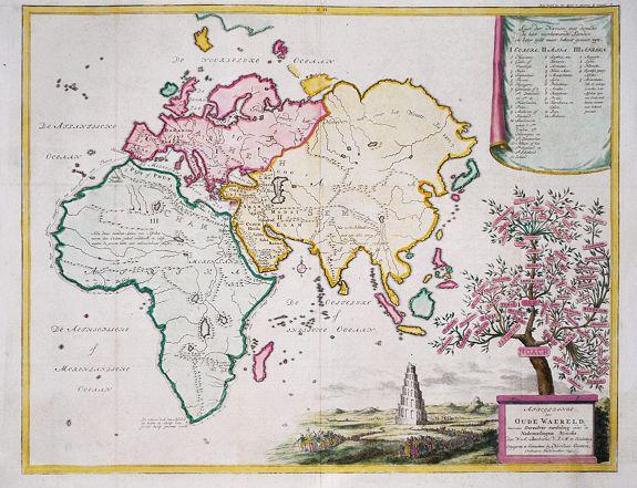 BACHIENE, W.A. - Afbeeldinge der Oude Waereld benevens Derzelve verdeling onder de Nakomelingen Noachs. 1749.
