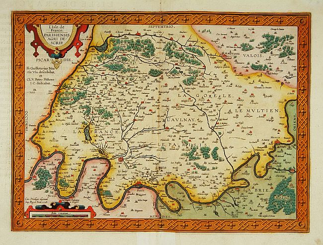 ORTELIUS, A. -  L'Isle de France. Parisiensis agri descrip.