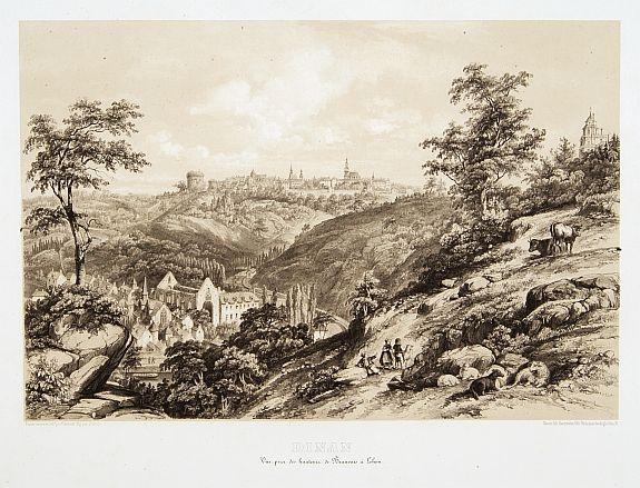 BENOIST, F. - DINAN. Vue prise des hauteurs de Beauvais à Lehon. D