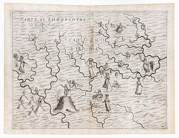 [DRAYTON, Michael]. -  Staffordshyre [with] Parte of Shropshyre On the East of Seuerne.