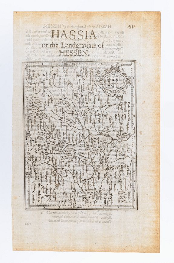 MERCATOR, Gerard & HONDIUS, Jodocus. -  Hassia Landgraviatus. / Hassia or the Landgraviate of Hessen. [Germany]