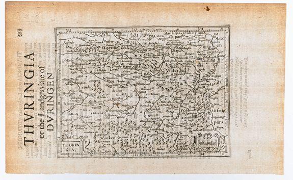 MERCATOR, Gerard & HONDIUS, Jodocus. -  Thuringia. / Thuringia or the Landgraviate of Duringen.