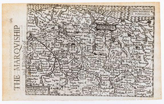 KEERE, Pieter van den. -  Marca Brandenburgensis & Pomerania. / The Marquiship and Electorship of Brandenburg.