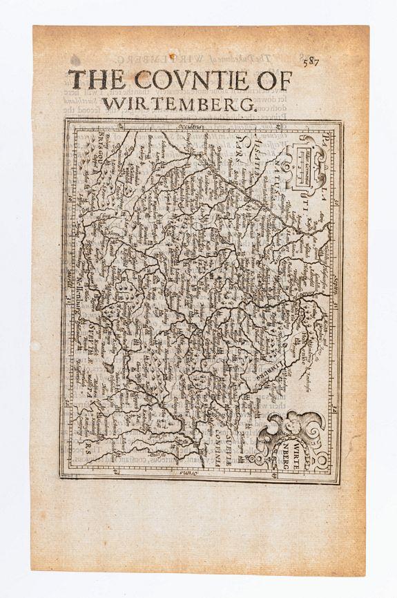 MERCATOR, Gerard & HONDIUS, Jodocus. -  Wirtenberg. / The Countie of Wirtemberg. [Germany]