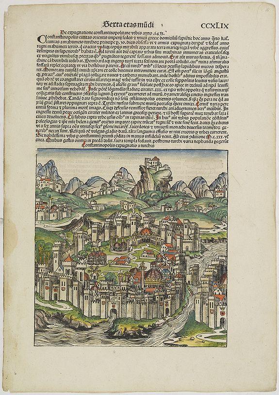 SCHEDEL, H. -  [Constantinopolis expugnatio a turchis. Folio CCXLIX ]