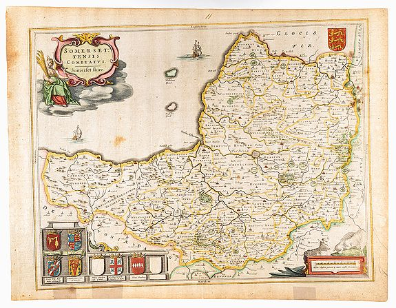 BLAEU, J. -  Somerset. Somerset:tensis Comitatus.