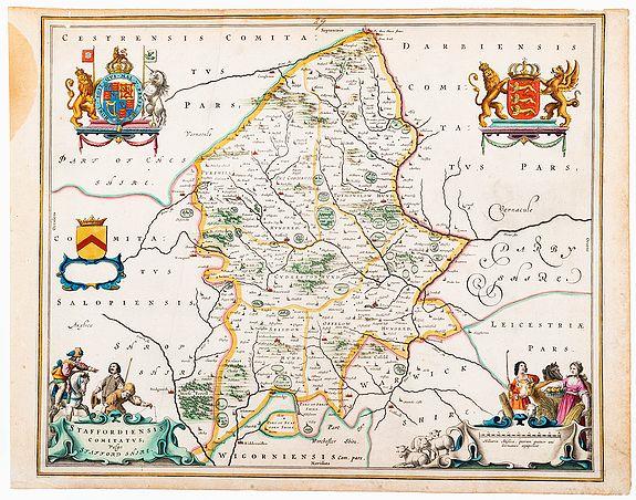 BLAEU, Joan. -  Staffordshire. Staffordiensis Comitatus, Vulgo Staffordshire.