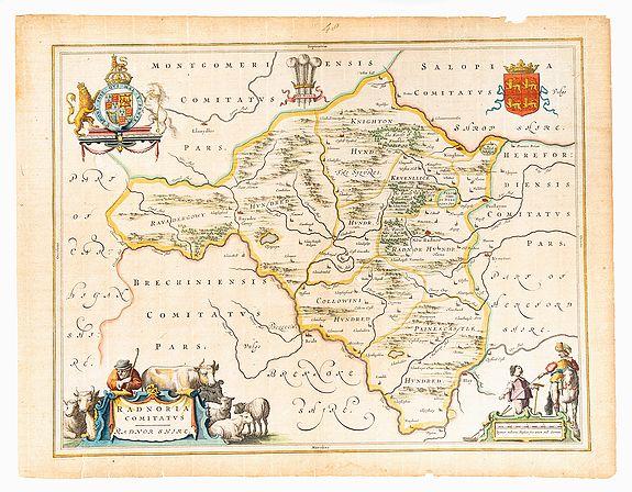 BLAEU, Joan. -  Radnoria Comitatus. Radnor Shire.