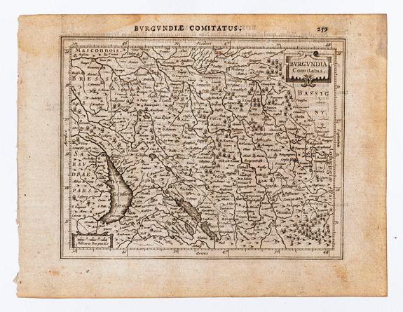 [MERCATOR, Gerard & HONDIUS, Jodocus]. -  Burgundia Comitatus.