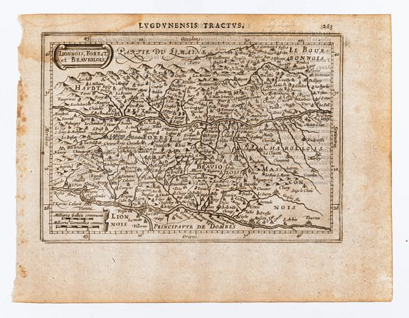 [MERCATOR, Gerard & HONDIUS, Jodocus]. -  Lionnois, Forest, et Beauiolois.