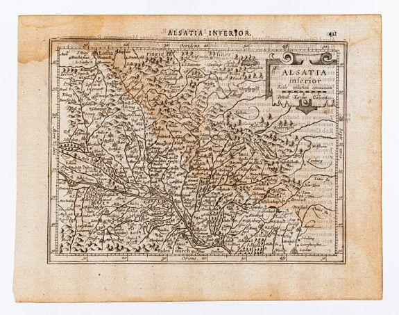[MERCATOR, Gerard & HONDIUS, Jodocus]. KEERE, Piet -  Alsatia inferior.