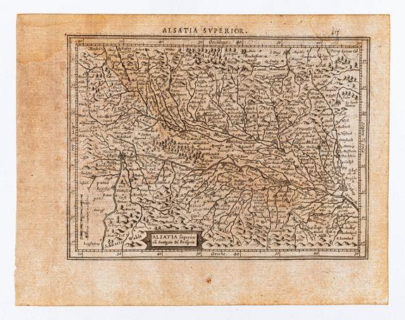 [MERCATOR, Gerard & HONDIUS, Jodocus]. -  Alsatia superior cu Suntgoia & Brisgoia.
