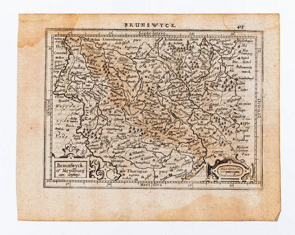 [MERCATOR, Gerard & HONDIUS, Jodocus]. -  Braunswyck et Meydburg cum confinis.