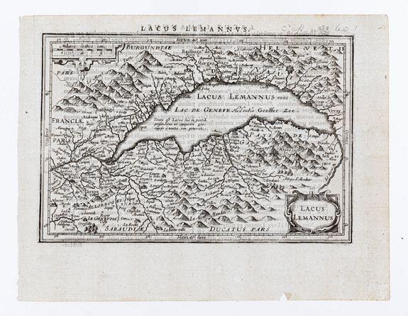 [MERCATOR, Gerard & HONDIUS, Jodocus]. -  Lacus Lemanus.