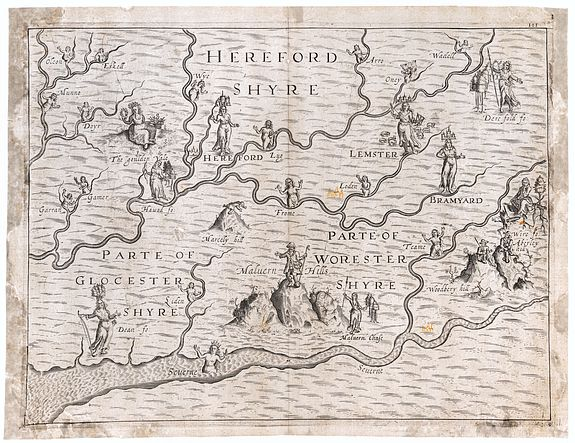 [DRAYTON, Michael]. -  Herefordshyre [with] Parte of Gloucestershyre [and] Parte of Worcestershyre.
