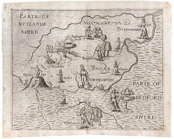 DRAYTON, Michael. -  Northamptonshyre [with] Parte of Rutlandshyre [and] Parte of Bedfordshyre.