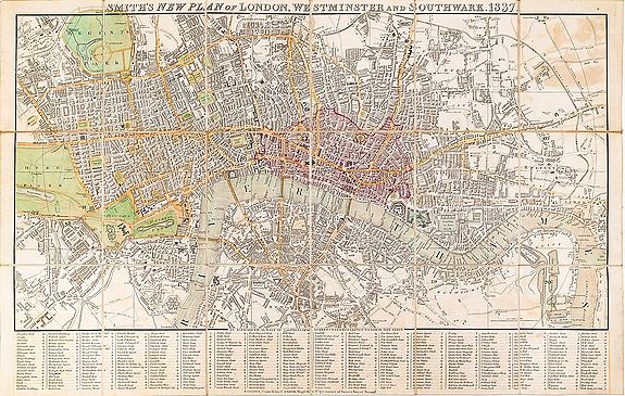 SMITH, Charles. -  Smith's New Plan of London, Westminster & Southwark.