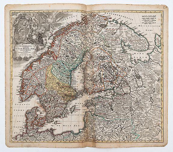 HOMANN, Johann Baptist. -  Scandinaviae complectens Sueciae Daniae & Norvegiae Regna ...