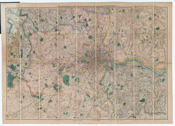 DAVIES, B. R. -  Davies's Map Of The Environs Of London.