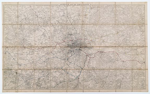 ORDNANCE SURVEY. -  London And Its Environs.