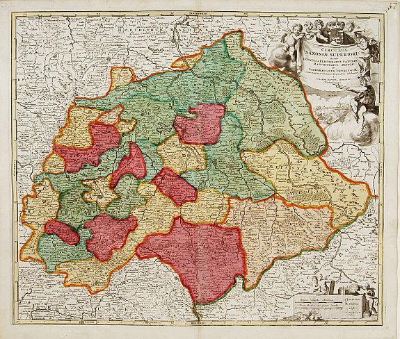 HOMANN, J.B. -  Saxoniae Superioris