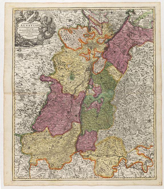 HOMANN, J.B. -  Landgraviatus Alsatiae tam superioris..