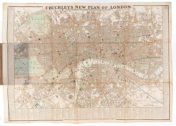 CRUCHLEY, G. F. -  Cruchley's New Plan of London Shewing All The New And Intended Improvements To The Present Time.