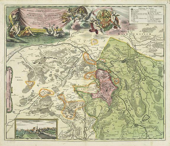 HOMANN, J.B. -  Geographica descriptio Montani cujusdam districtus in ..